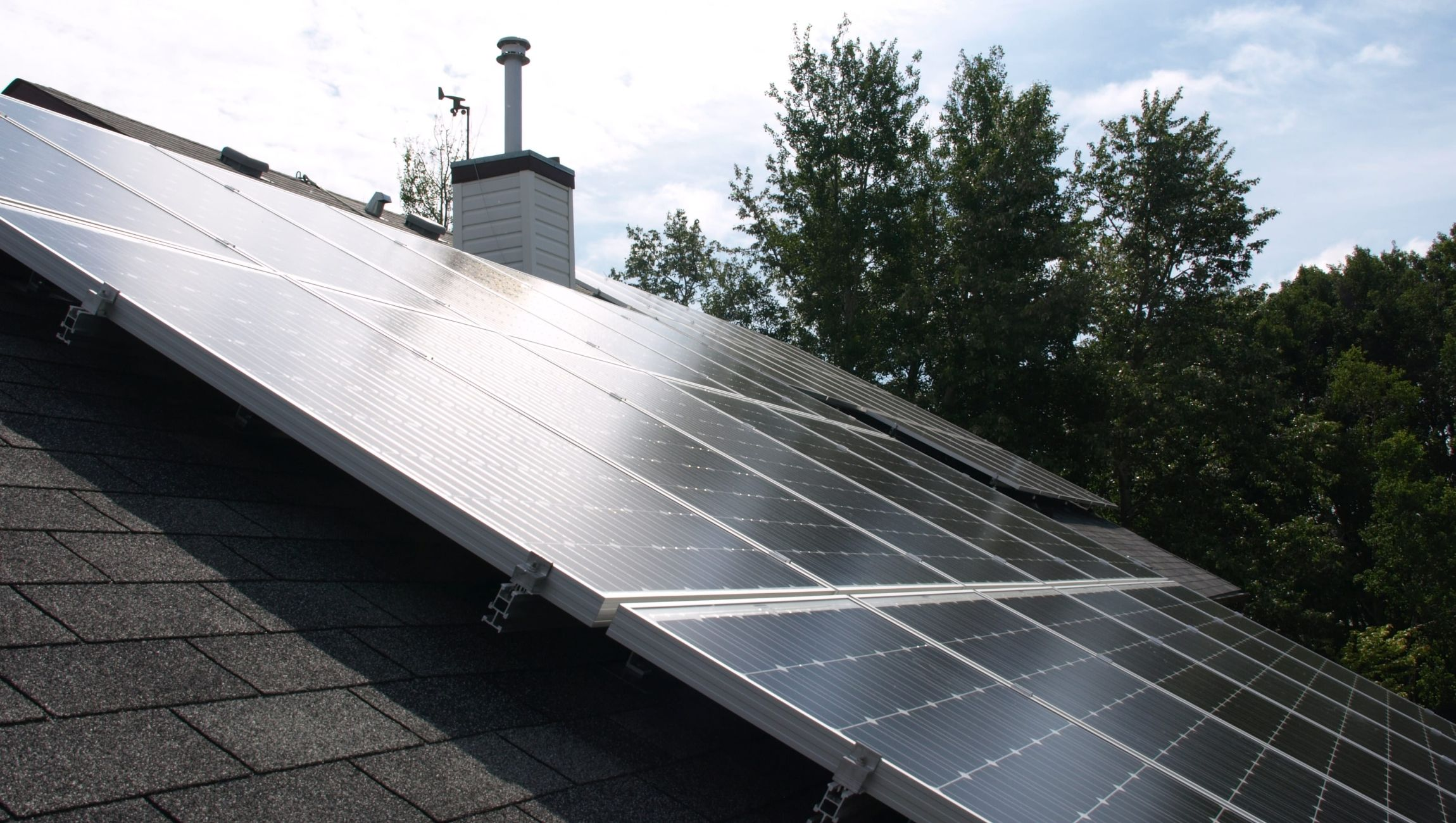 Typical roof-top residential solar