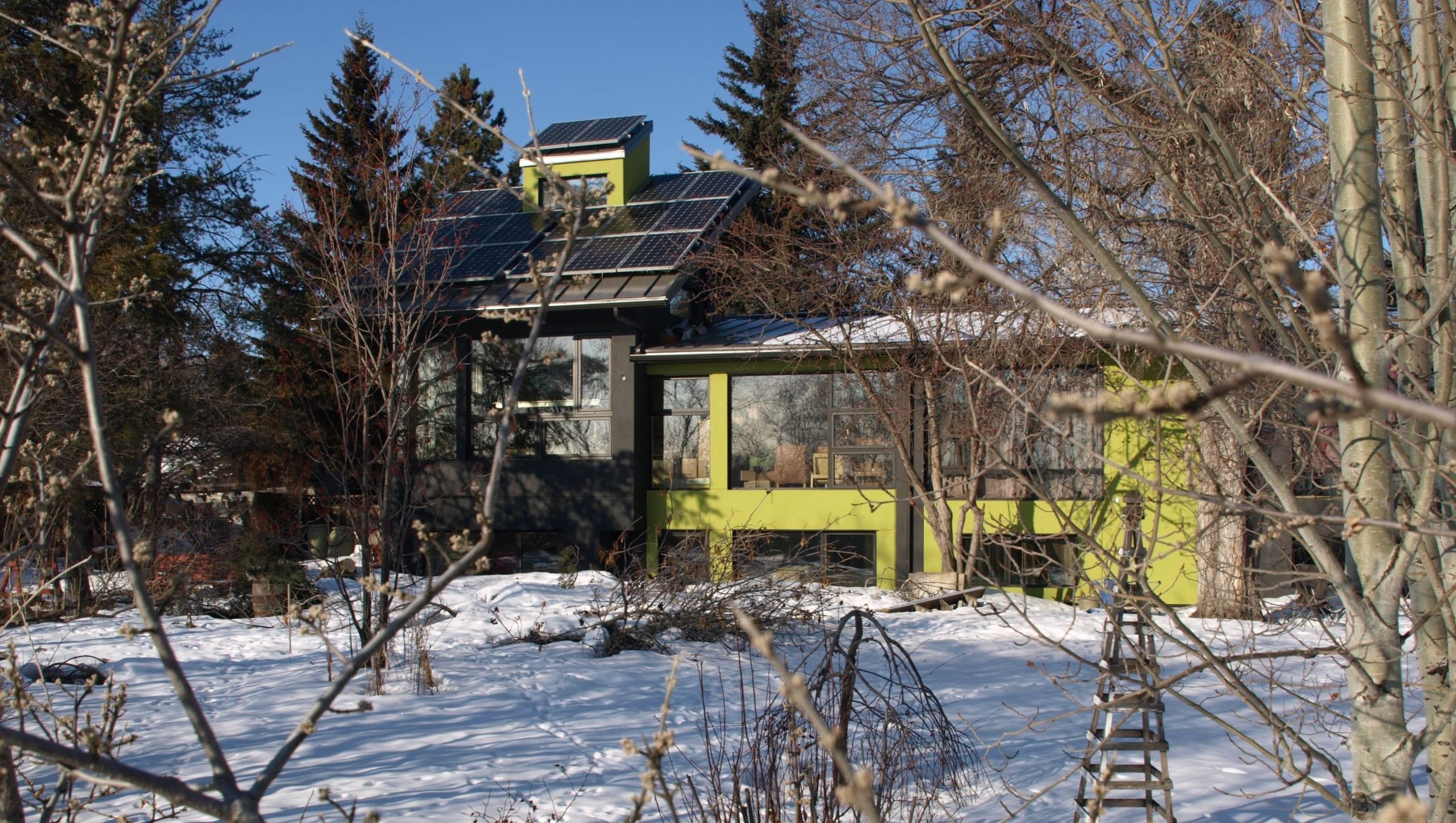 Edmonton roof-top PV system in Mill Creek Ravine
