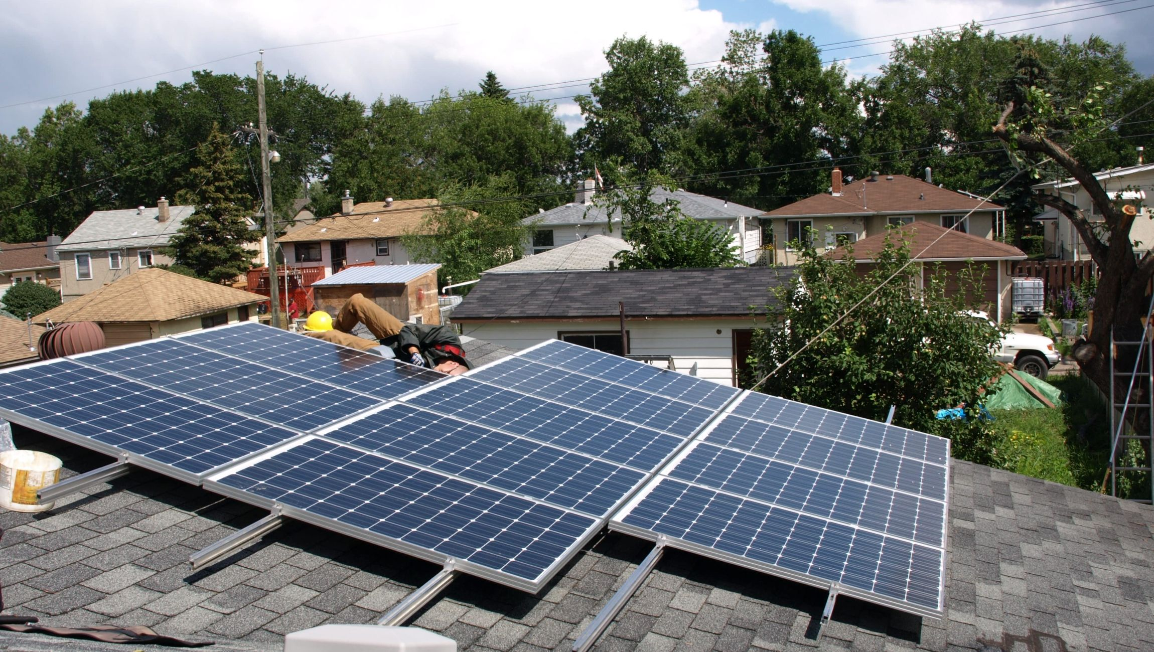 Quick residential solar roof-top install