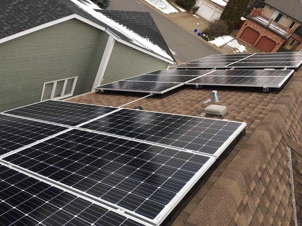 Solar system in Edmonton