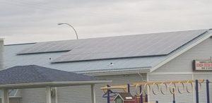 Municipal Solar system Barrhead Senior Citizens Drop In Centre Alberta 2019